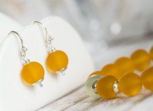 bracelet-yellow-murano-beads-elastic