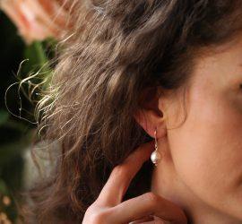 Pearls sterling silver earrings
